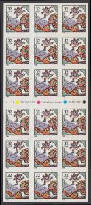 USA Michel 3117 / Scott 3117a postfrisch Folioblatt(18) - Weihnachten