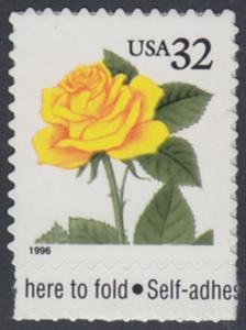 USA Michel 2795 / Scott 3049 postfrisch EINZELMARKE RAND unten - Blumen: Rose