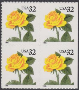 USA Michel 2795 / Scott 3049 postfrisch BLOCK - Blumen: Rose