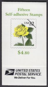 USA Michel 2795 / Scott 3049bcd postfrisch Markenheftchen(15) - Blumen: Rose