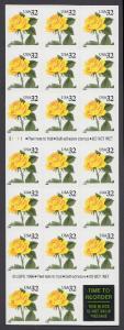 USA Michel 2795 / Scott 3049a postfrisch Folioblatt(20) - Blumen: Rose