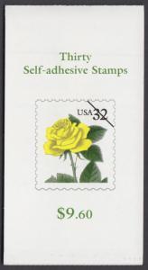 USA Michel 2795 / Scott 3049bcd postfrisch Markenheftchen(30) - Blumen: Rose