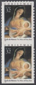 USA Michel 2799 / Scott 3112 postfrisch vert.PAAR (a1) - Weihnachten: Maria mit Kind