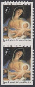 USA Michel 2799 / Scott 3112 postfrisch vert.PAAR (a2) - Weihnachten: Maria mit Kind