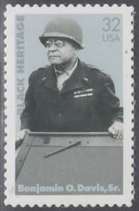 USA Michel 2801 / Scott 3121 postfrisch EINZELMARKE - Schwarzamerikanisches Erbe: Benjamin O. Davis, Sr., General