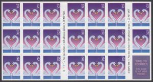 USA Michel 2803 / Scott 3123 postfrisch Folioblatt(20) - Grußmarke, Schwanenpaar