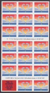 USA Michel 2804 / Scott 3124a postfrisch Folioblatt(20) - Grußmarke, Schwanenpaar