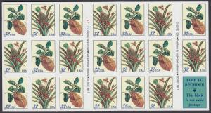 USA Michel 2806-2807 / Scott 3127 postfrisch Folienbogen(20) - Blumen: Zweig eines Zitronenbaums / Blühemde Ananas