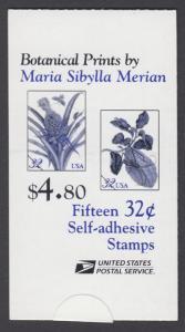 USA Michel 2806-2807 / Scott 3129b postfrisch Markenheftchen(15) - Blumen: Zweig eines Zitronenbaums / Blühemde Ananas