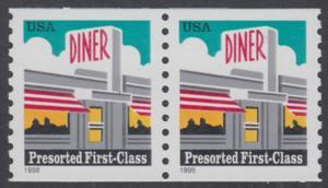 USA Michel 2968 / Scott 3208 postfrisch horiz.PAAR - Restaurant