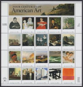 USA Michel 3007-3026 / Scott 3235 postfrisch BOGEN(20) - Bildende Kunst in vier Jahrhunderten