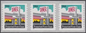 USA Michel 3043 / Scott 3208A postfrisch horiz.STRIP(3) (coil/selbstklebend) - Restaurant