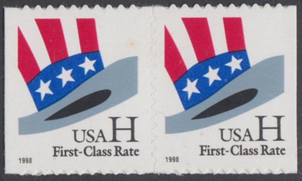 USA Michel 3060 / Scott 3267 postfrisch horiz.PAAR - Hut von Uncle Sam 0