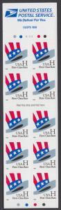 USA Michel 3060 / Scott 3267a postfrisch Markenheftchen(10) - Hut von Uncle Sam