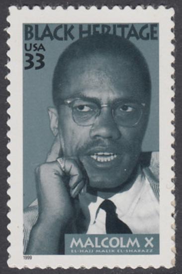USA Michel 3071 / Scott 3273 postfrisch EINZELMARKE - Schwarzamerikanisches Erbe: Malcolm X, Bürgerrechtler 0