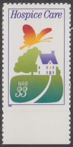 USA Michel 3074 / Scott 3276 postfrisch EINZELMARKE RAND unten - Hospiz-Bewegung
