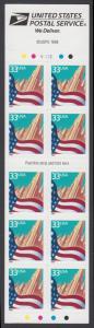 USA Michel 3091H / Scott 3278d postfrisch Markenheftchen(10) - Flagge vor Stadtansicht