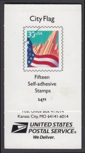 USA Michel 3091H / Scott 3278abc postfrisch Markenheftchen(15) - Flagge vor Stadtansicht
