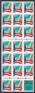 USA Michel 3091H / Scott 3278e postfrisch Folienblatt(20) - Flagge vor Stadtansicht
