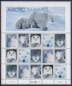 USA Michel 3094-3098 / Scott 3288-3292 postfrisch BOGEN(15) - Tiere der Arktis