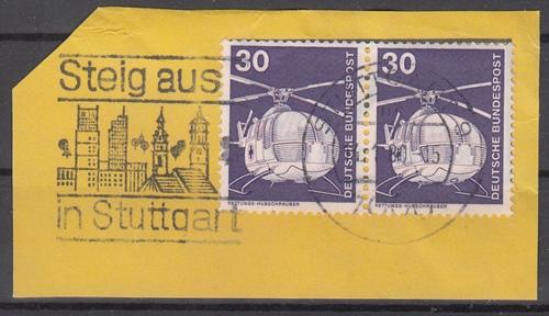 hc000.124 - Bund Mi.Nr. 849 waagr. Paar mit Stempel Stuttgart und MWSt \