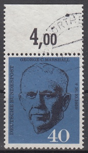 hc000.282 - Bund Mi.Nr. 344 o vom Oberrand mit RWZ