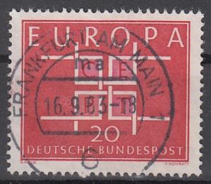hc000.289 - Bund Mi.Nr. 407 o, Vollstempel Frankfurt am Main