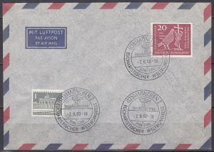 br000.001 - Bund SSt München 2 Eucharistischer Weltkongress 1960 auf Beleg mit Mi.Nr. 331