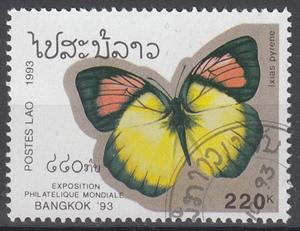 hc000.483 - Laos Mi.Nr. 1381 o, Schmetterling Ixias pyrene