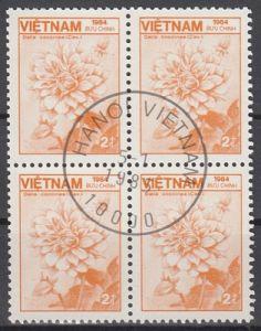 hc000.498 - Vietnam Mi.Nr. 1541 o, Viererblock