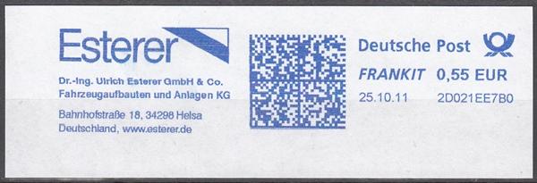 af023 - Deutschland FRANKIT 2D021EE7B0, 2011, Esterer Fahrzeugaufbauten und Anlagen