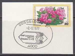 s2 - SST Düsseldorf 2.9.1977 IAAF Leichtathletik Weltcup auf Briefstück