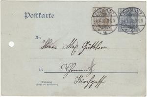ga050 - Deutsches Reich Mi.Nr. P 70X gelaufen