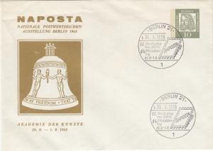 ga051 - Berlin Sonderganzsache PU...NAPOSTA Berlin 1963 mit SSt