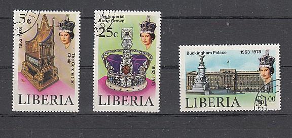 (8)25.Jahrestag der Krönung von Königin Elisabeth II, MiNr.1068-1070