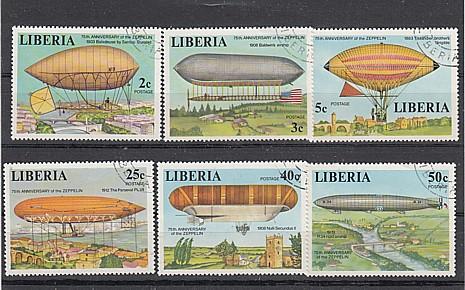 (12) 75 Jhr.Zeppelin-Luftschiffe, MiNr.1054-1059