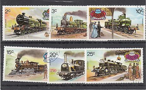 (13) Historische Eisenbahnen, MiNr.869-874