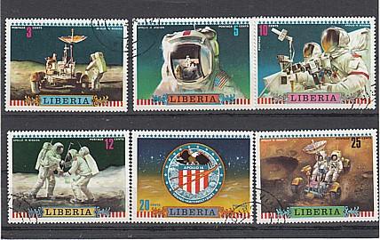 (17) Mondflug von Apollo 16, MiNr.835-840