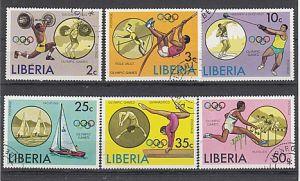 (19) Olympische Sommerspiele,Montreal 1976, MiNr.990-995