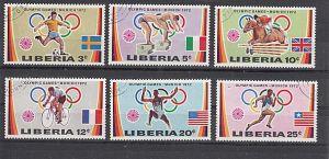 (21) Olympische Sommerspiele,München 1972, MiNr.826-831