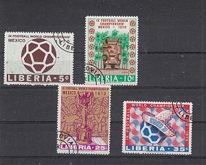 (26) Fußball-WM,Mexiko 1970, MiNr.739-742