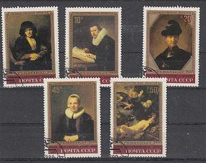 (31) Rembrandt-Gemälde in der Eremitage,Leningrad, MiNr.5259-5263