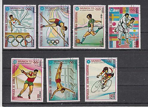 (44) Olympische Sommerspiele München, MiNr.108-114