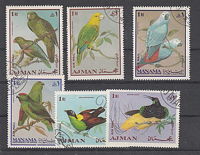 (49) Vögel, MiNr.394,396,400,401,403,404