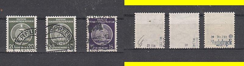 (58) Dienstmarken, MiNr.21,28