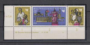 (72) Weltfriedenstreffen Berlin, MiNr.1478-1480, Dreierstreifen