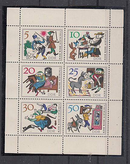 (78) Märchen, MiNr.1236-1241, Kleinbogen