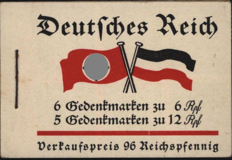 Deutsches Reich Markenheftchen MH 32.1 Fridericus 1933 komplett ungebraucht *