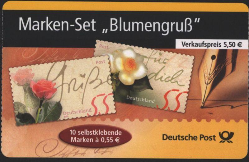 Bund Markenheftchen MH 55 Blumengruß 2004 Ersttagsstempel FRANKFURT