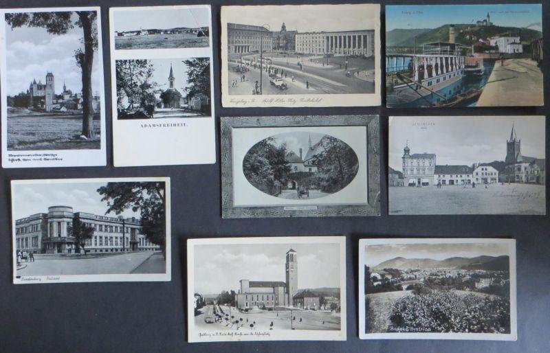 Sammlung nur Original alter Ansichtskarten Ostgebiete gesamt ca 105 ca. 1900-45